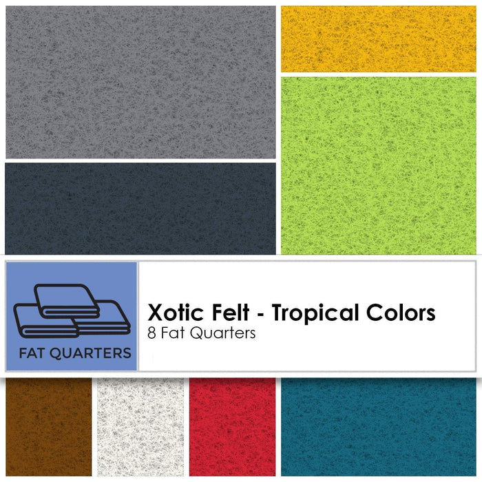 "Xotic FELT Bamboo/Rayon Fat Quarter Bundles (8) 20"" x 22"" pieces-U-Pick! by National Nonwovens-Urban, Holiday, Tropical, Spring Collections! - RebsFabStash"
