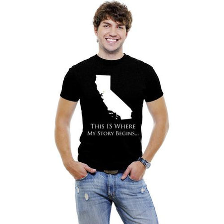 California-This Is Where My Story Begins... Men T-Shirt