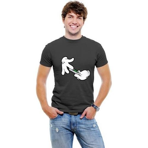 Cartoon Hands Roll Joint T-shirt