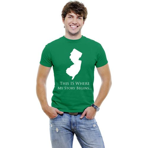 New-Jersey- This Is Where My Story Begins Men T-Shirt Soft Cotton Short Sleeve Tee