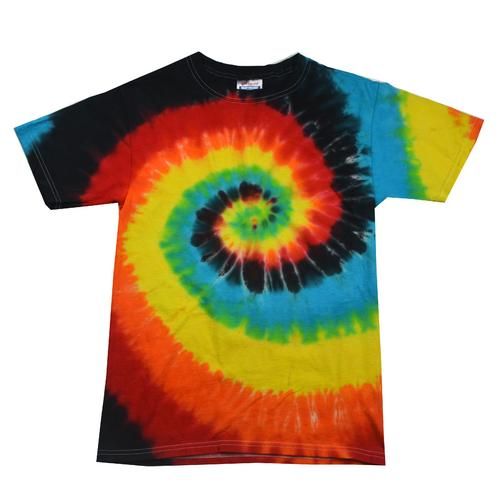 Twist Tie Dye Eclipse Men T-Shirt Soft Cotton Short Sleeve