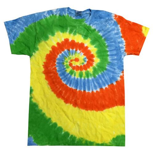 Twist Tie Dye Moon Dance Men T-Shirt Soft Cotton Short Sleeve