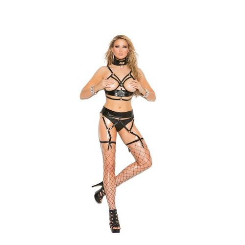 CUPLESS BRA & GARTER BELT