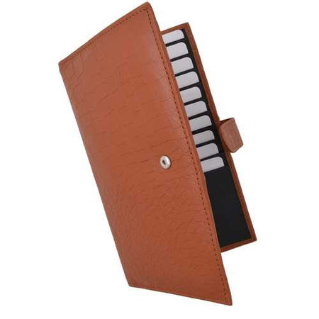 Croco RFID Long Secure Credit Card Holder-Assorted Colors