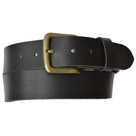 AFONiE Genuine Leather Belt with Bronce Buckle