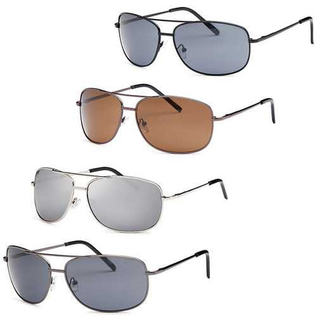 Men Metal Style Square Sunglasses- Pack of 4