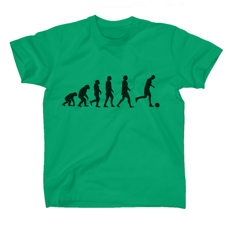 AFONiE Human Evolution Soccer Kids T-Shirt