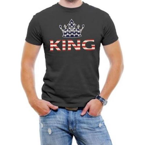 King USA Flag Men Graphic T-Shirt