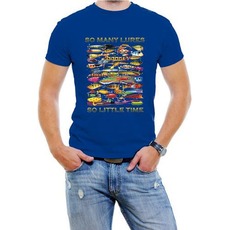 So Many Lures...So Little Time Men Fishing T-Shirt