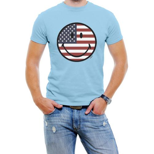 USA Smile Face Men Graphic T-Shirt