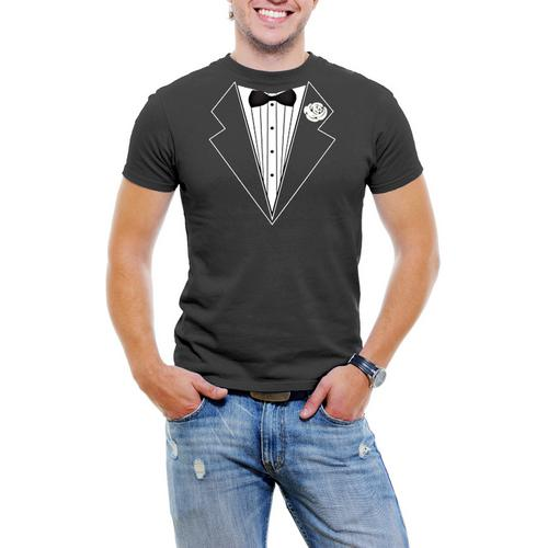 Tuxedo Jacket Men T-Shirt Soft Cotton Short Sleeve Tee