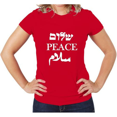 Peace/Shalom Women T-Shirt Assprted Colors