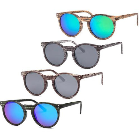 AFoNiE-4 Pack Woody Round Sunglasses