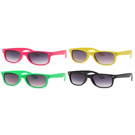 4-Pack - AFONiE Retro Colorblock Kids Sunglasses