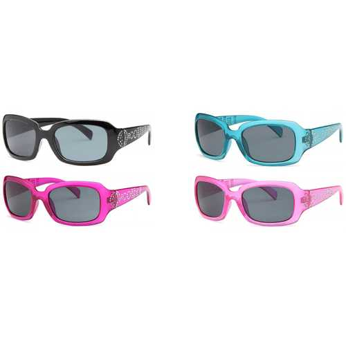 4-Pack - AFONiE Girls Sunglasses with Crystal Studs