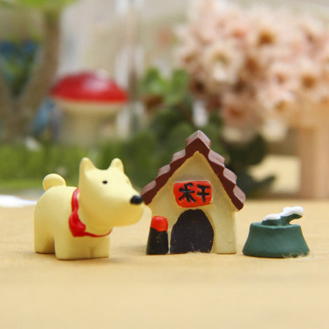 1 Sets of Little Dog House Toys Accessories Micro Landscape Ornament