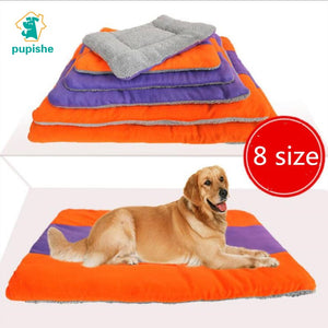 PUPISHE Dot Beds  Ice Silk Waterproof Dog Bed Summer House For Dog Bench Lounger For Large Medium Large Dogs Cat Pet Mat Designs