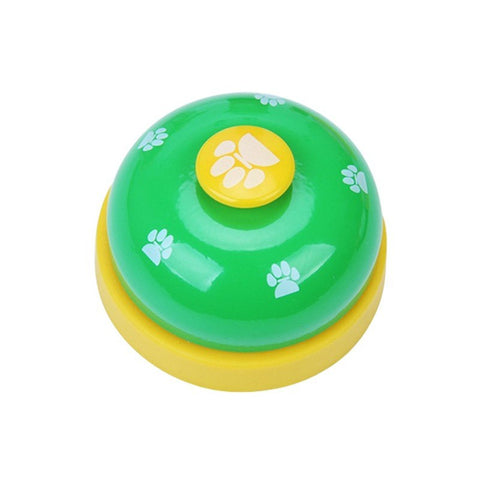 panDaDa Dog Trainings Call Bell Stainless Steel Ball-Shape Paws Printed Meal Feeding Educational Puppy Training Tool Supplies