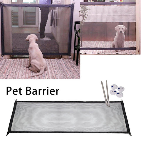 Pet Barrier Portable Folding Magic-Gate Guard Gate Pet Dog Separation And Install Anywhere Pet Safety Safety Kitchen Tools