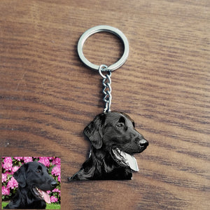 Personalized Dog Keychain - Stainless steel