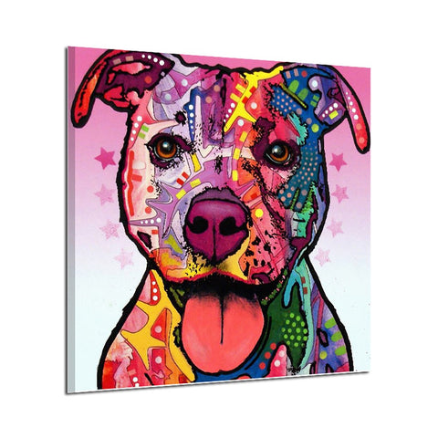 Colorful Dog  Oil Painting Watercolor Painting Photo Print Canvas Unframed