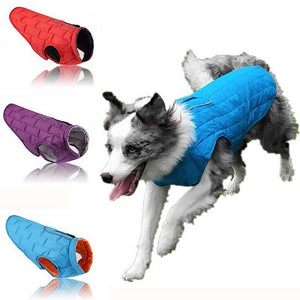 Waterproof Pet Dog Winter  Warm Coat  Puppy  Double-sided To Wear Jacket Clothes