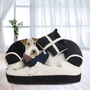 Warm Double-Cushion Dog Bed Soft Cotton Dog House Plus Size Pet Bed for Dog and Cat Dog Kennel Drop shipping