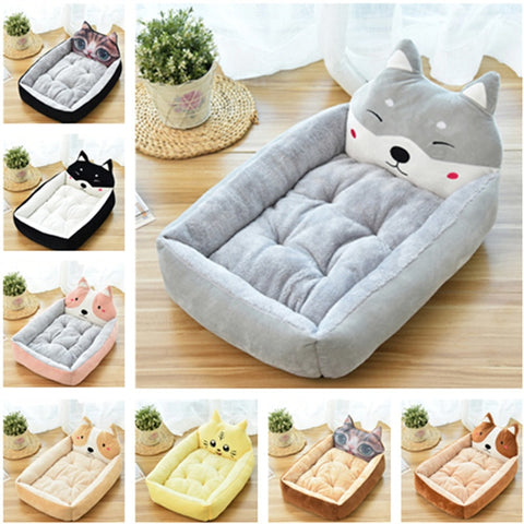 Lovely Dog Bed Pad Animal Cartoon Shaped Kennels Lounger Sofa Soft Pet House Dog Bed Mat Big Basket Dog Mattress Pet Supplies