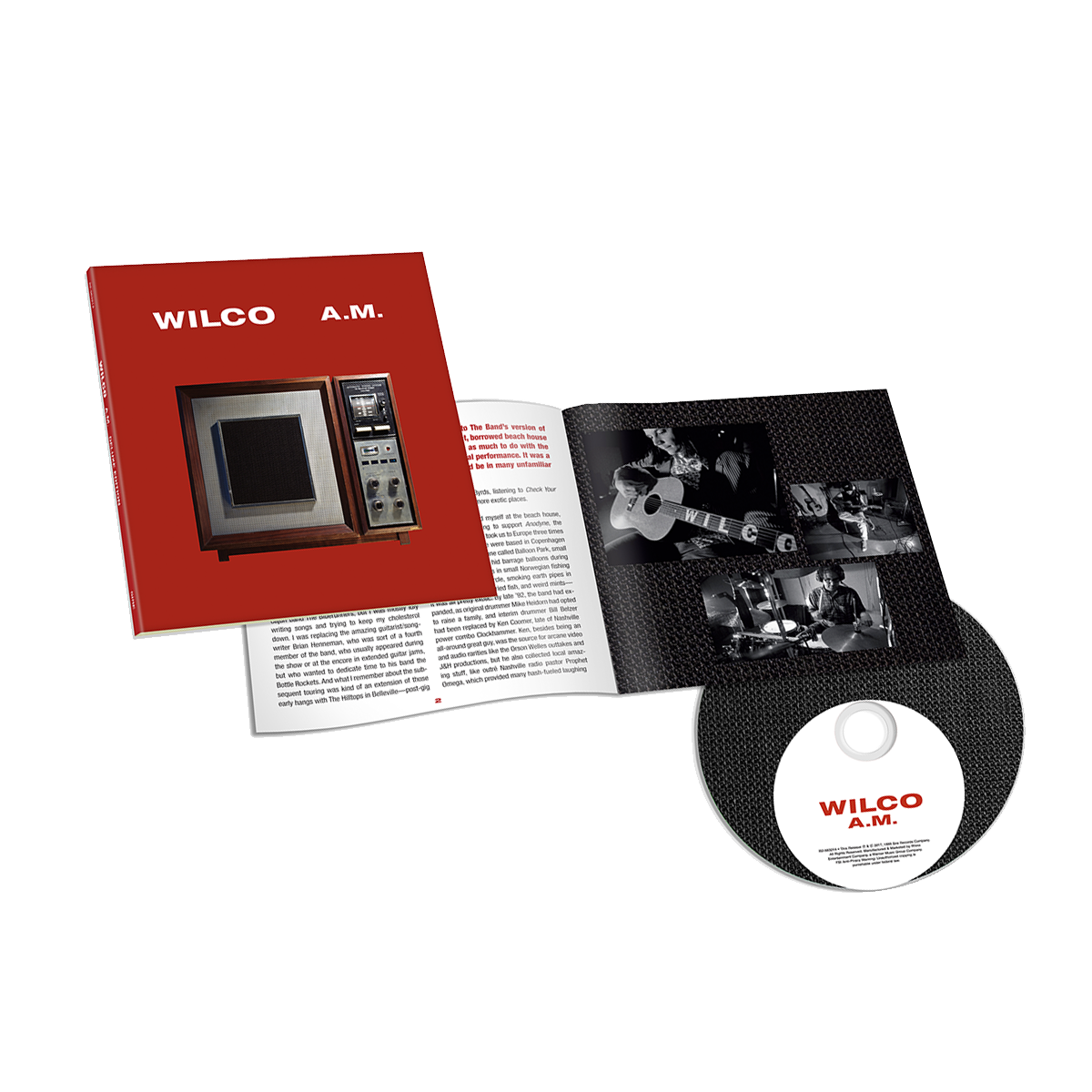 Wilco album AM Deluxe Edition CD from Bingo Merch Official Merchandise