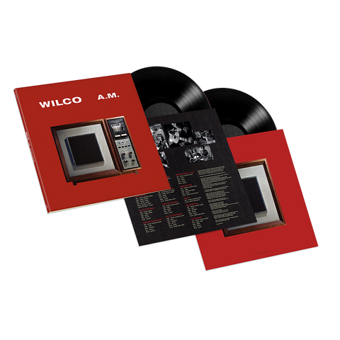 Wilco album AM on Deluxe vinyl LP from Bingo Merch Official Merchandise