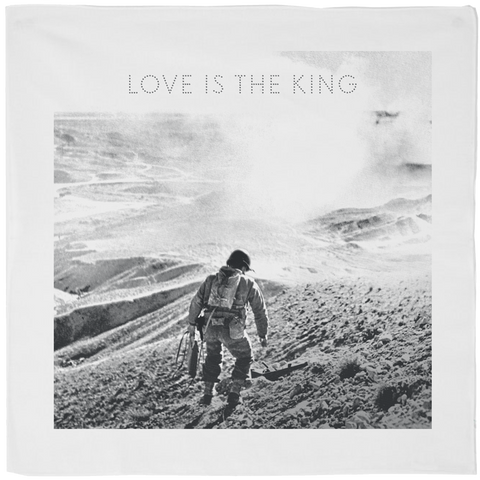 (PRE-ORDER) Love Is The King Bandana White