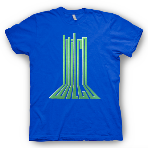 Wilco Perspective design on a royal blue Tshirt from Bingo Merch Official Merchandise