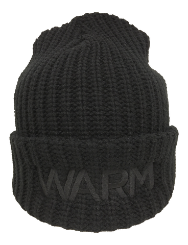 Jeff Tweedy WARM logo on a black Beanie Hat from Bingo Merch Official Merchandise