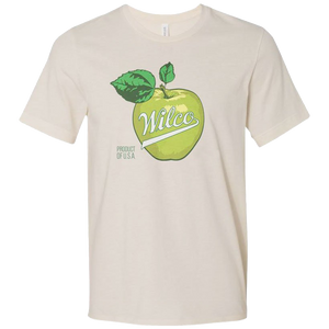 Wilco Apple design on a natural Tshirt from Bingo Merch Official Merchandise