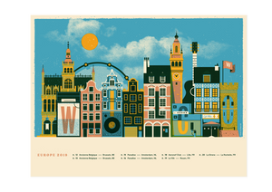 Wilco European Tour Poster from Spring 2019 from Bingo Merch Official Merchandise