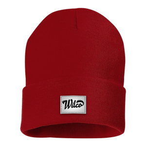 Wilco logo on a red Beanie Hat from Bingo Merch Official Merchandise