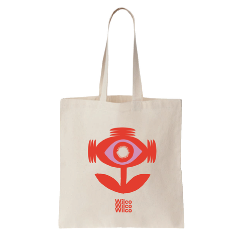 Wilco Sonic Flower design on a natural Totebag from Bingo Merch Official Merchandise