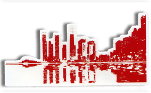Wilco Cityscape Sticker from Bingo Merch Official Merchandise
