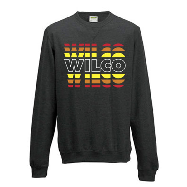 Wilco Fade design on a grey Sweatshirt from Bingo Merch Official Merchandise