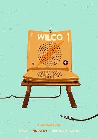 Wilco Oslo 2016 Poster from Bingo Merch Official Merchandise