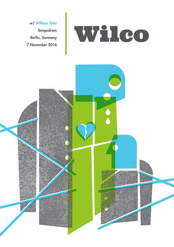 Wilco Berlin 2016 Poster from Bingo Merch Official Merchandise