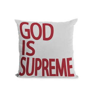 God is Supreme Throw Pillow - God Is Supreme