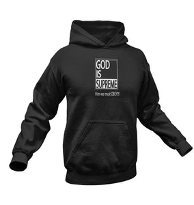 God is Supreme White Box / Black Hoodie - God Is Supreme