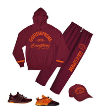 God is Supreme Over Everything Orange/Maroon Sweatpants
