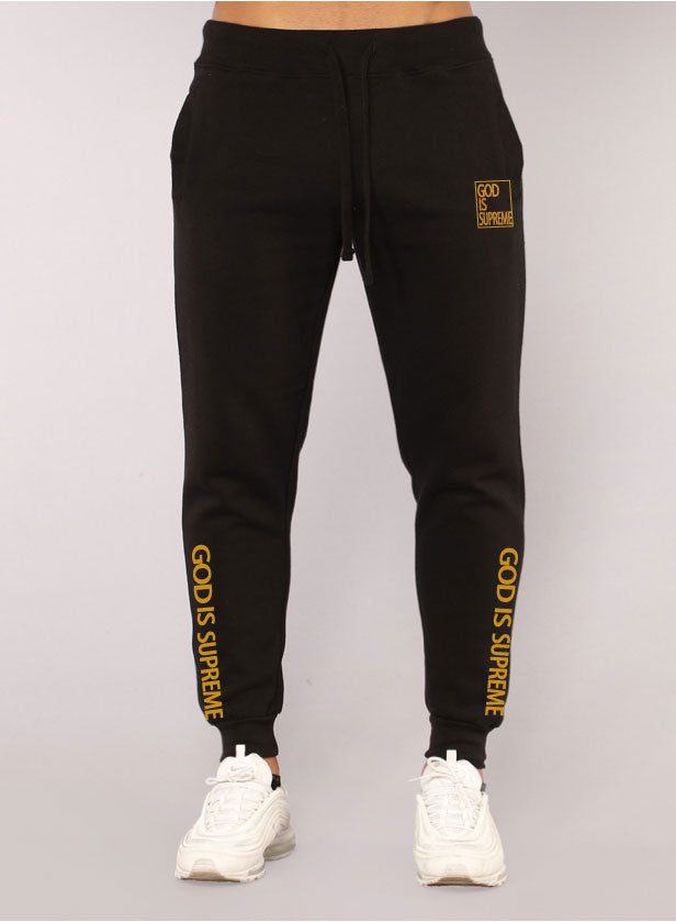 God is Supreme Gold Box/ Black Jogger Set - God Is Supreme