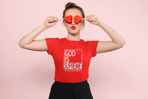 God is Supreme White Box /Red T-shirt - God Is Supreme