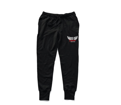 Fly High God is Supreme Black/White Joggers