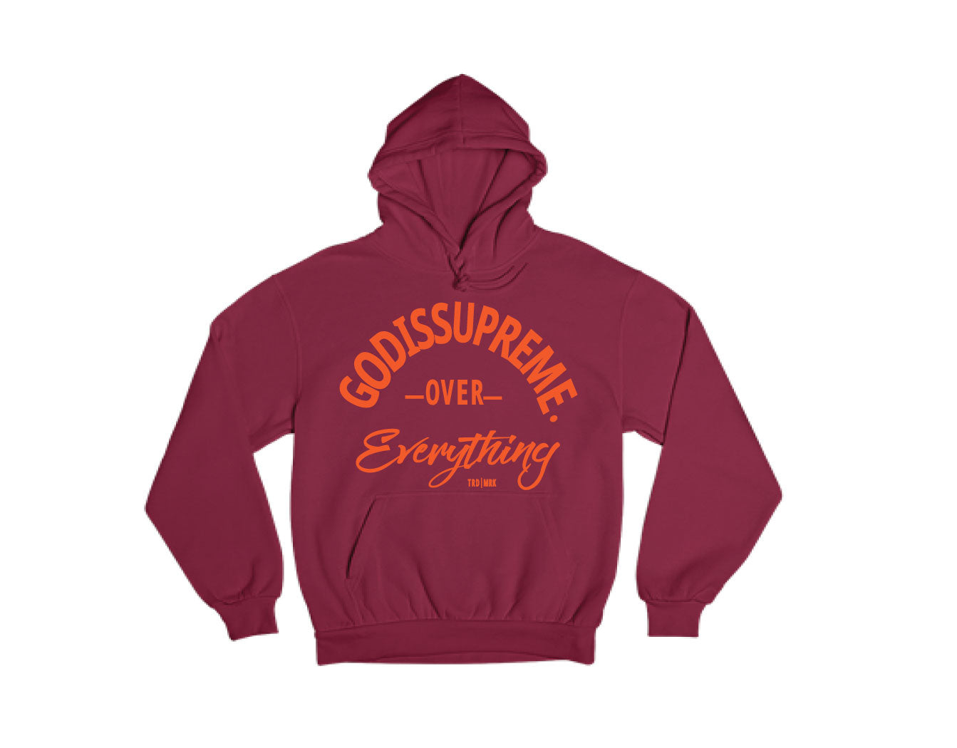 God is Supreme Over Everything Orage/ Maroon Hoodie