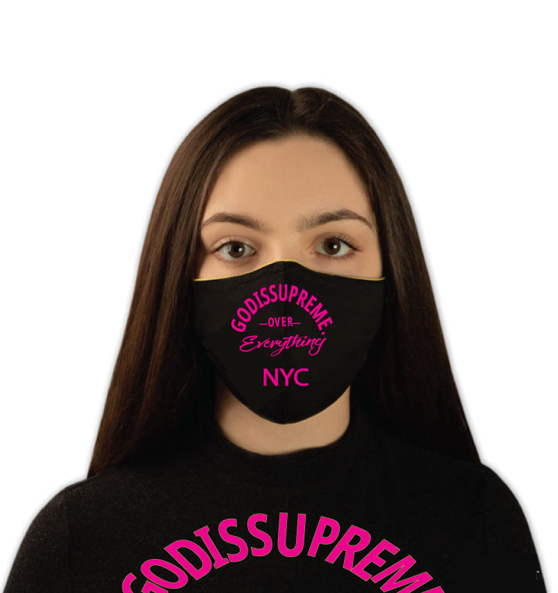 GIS Over Everything Fashionable, Reusable Face Mask (Pink)