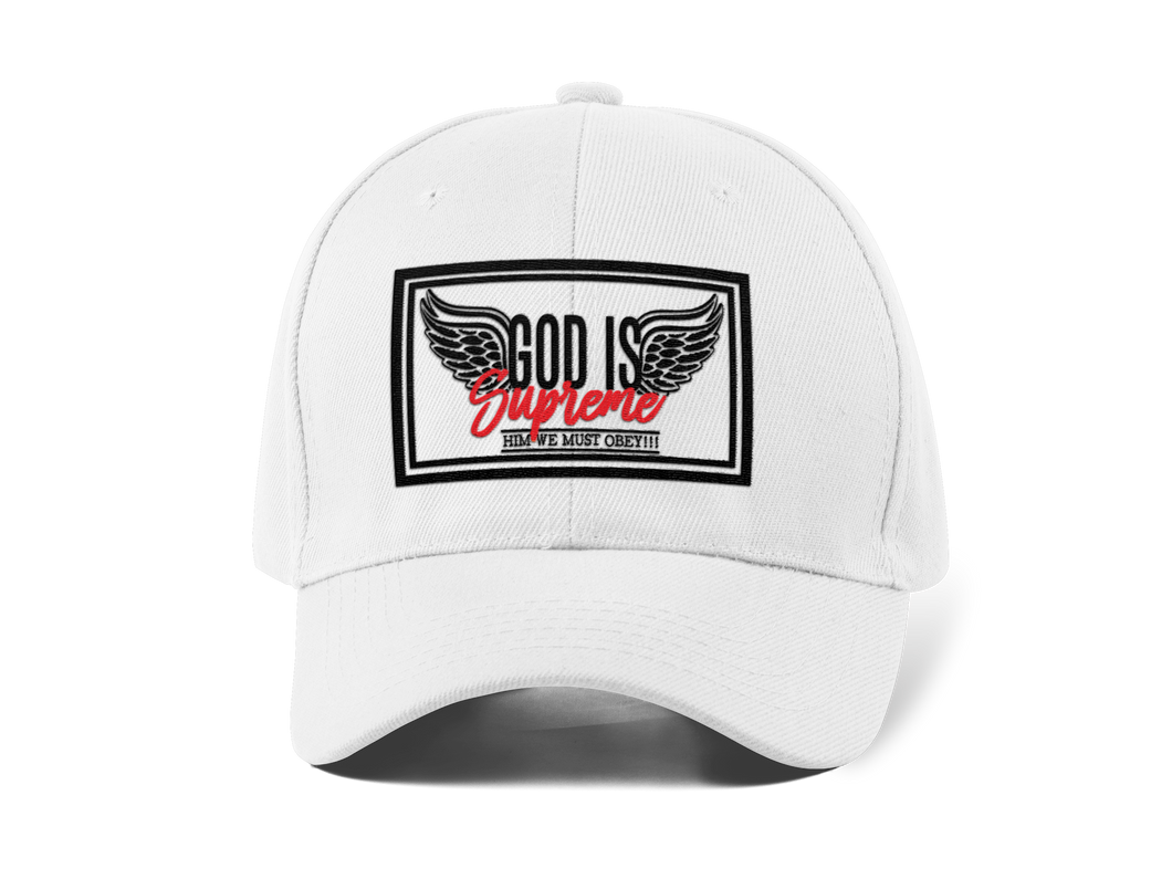 Fly High God is Supreme (White Dad Hat)